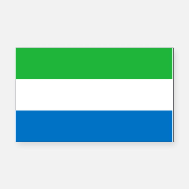 Sierra Leone Flag Rectangle Car Magnet