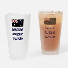 Aussis Aussie Aussie (blue) Drinking Glass