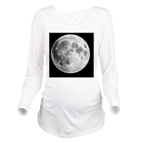 Full Moon Lunar Glob Long Sleeve Maternity T-Shirt