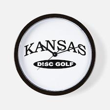 Kansas Disc Golf Wall Clock