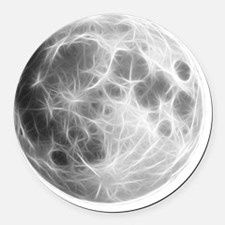 Full Moon Lunar Globe Round Car Magnet