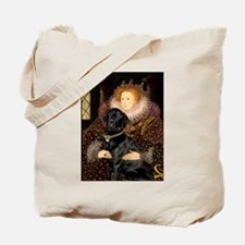 The Queen's Black Lab Tote Bag
