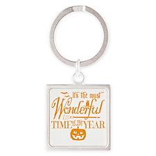 Most Wonderful (orange) Square Keychain