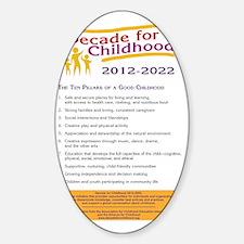 10 Pillars of a Good Childhood Post Decal