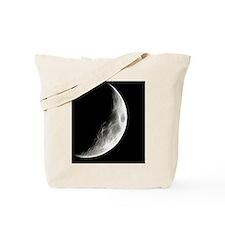 Quarter Moon Lunar Planet Globe Tote Bag