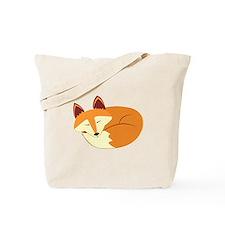 Cute Sleeping Fox Tote Bag