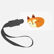 Cute Sleeping Fox Luggage Tag