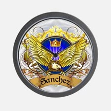Sanchez Family Crest Wall Clock