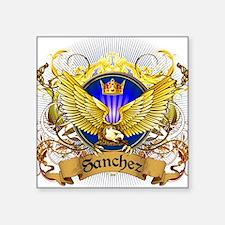 """Sanchez Family Crest Square Sticker 3"""" x 3"""""""