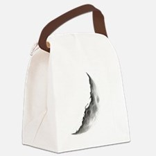 Quarter Moon Lunar Planet Globe Canvas Lunch Bag