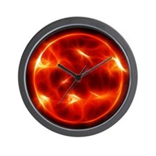 Sun Sol Star Sphere Wall Clock
