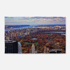 Central Park in Autumn, A view from 3'x5' Area Rug