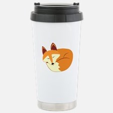 Cute Sleeping Fox Travel Mug