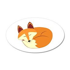 Cute Sleeping Fox Wall Decal