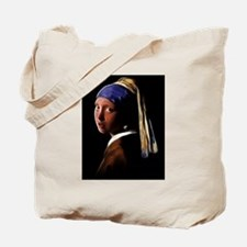 Girl with a Pearl Earring Digital Paintin Tote Bag