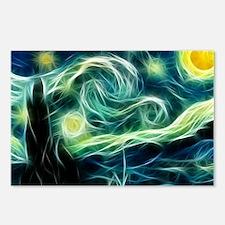 Starry Night Van Gogh Fra Postcards (Package of 8)
