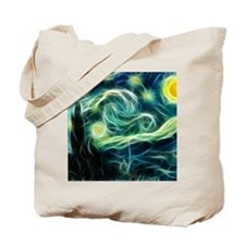 Starry Night Van Gogh Fractal Art Tote Bag