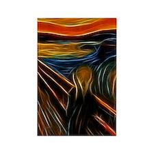 The Scream Fractal Painting Edvar Rectangle Magnet