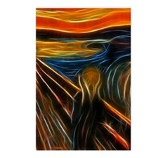 The Scream Fractal Painti Postcards (Package of 8)