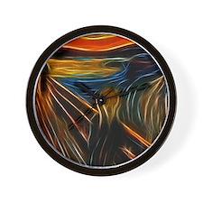 The Scream Fractal Painting Edvard Munc Wall Clock