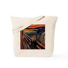 The Scream Fractal Painting Edvard Munch Tote Bag