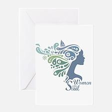 Woman Who Sail Logo Greeting Cards