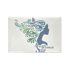 Woman Who Sail Logo Magnets