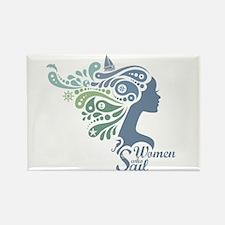 Woman Who Sail Logo Magnets