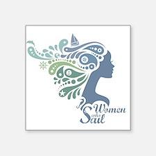 Woman Who Sail Logo Sticker
