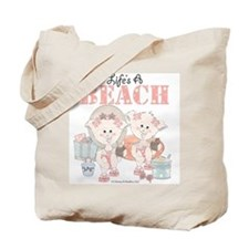 Life's a Beach Tote (pigs in swimsuits) Bag