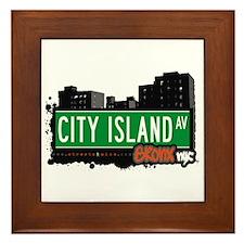 City Island Av, Bronx, NYC  Framed Tile