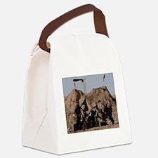Ranger mortar team sends a round  Canvas Lunch Bag