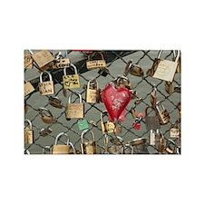 Lovers Bridge Paris, France Rectangle Magnet
