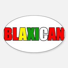 Blaxican Oval Decal