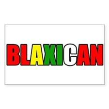 Blaxican Rectangle Decal