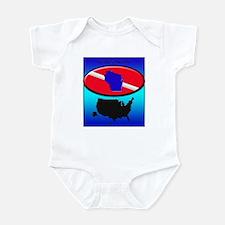 Wisconsin Dive Flag Infant Bodysuit
