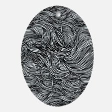 Wavy Lines Oval Ornament
