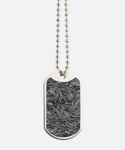 Wavy Lines Dog Tags