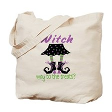 Witch way to the treats? Tote Bag