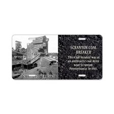 Scranton Coal Breaker Histo Aluminum License Plate