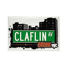 Claflin Av, Bronx, NYC Rectangle Magnet