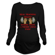 blk_real_training_co Long Sleeve Maternity T-Shirt