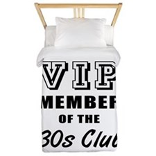 30's Club Birthday Twin Duvet