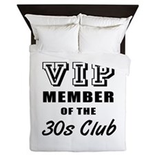 30's Club Birthday Queen Duvet