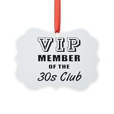 30's Club Birthday Ornament