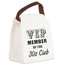 30's Club Birthday Canvas Lunch Bag