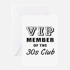 30's Club Birthday Greeting Card