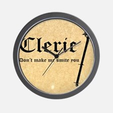 Cleric - Dont make me smite you Wall Clock