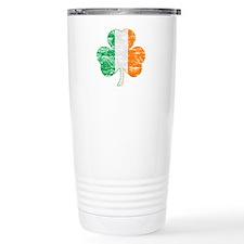 Vintage Irish Flag Shamrock Travel Mug