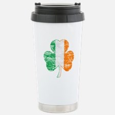 Vintage Irish Flag Shamrock Travel Mug